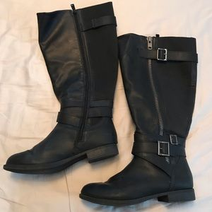 Torrid Extra Wide Calf Black Boots Size 8 wide